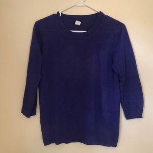 J.Crew linen 3/4 sleeve purple top